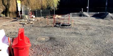 Quai sur la Dordogne - Fin des travaux des réseaux secs et humides (5 décembre 2017)