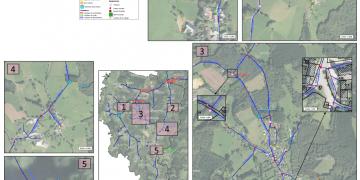 Plan détaillé du réseau (SIG)