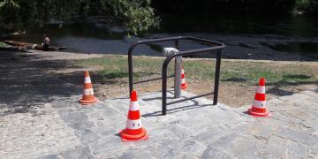 Quai sur la Dordogne - Création d'une prise d'eau incendie dans la Dordogne (3 juillet 2018)