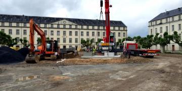 29 mai 2018 : Mise en place du local technique enterré
