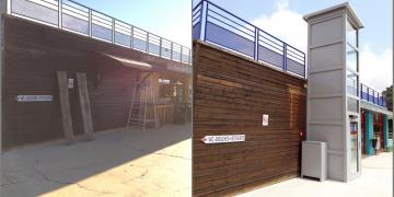 Avant/Après les travaux de rénovation : Elévateur - accès PMR