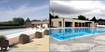 Avant/Après les travaux de rénovation : bassin sportif et nouveau bâtiment