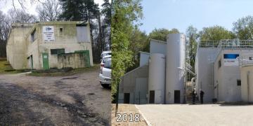 Avant/après les travaux de mise aux normes de l'usine
